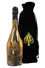 Armand de Brignac Gold Satin Bag