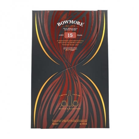 Bowmore 15 Years Sherry Cask Finish met glazen