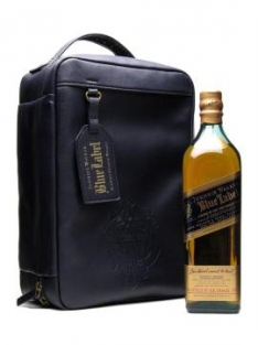 Blue Label whisky met leren tas